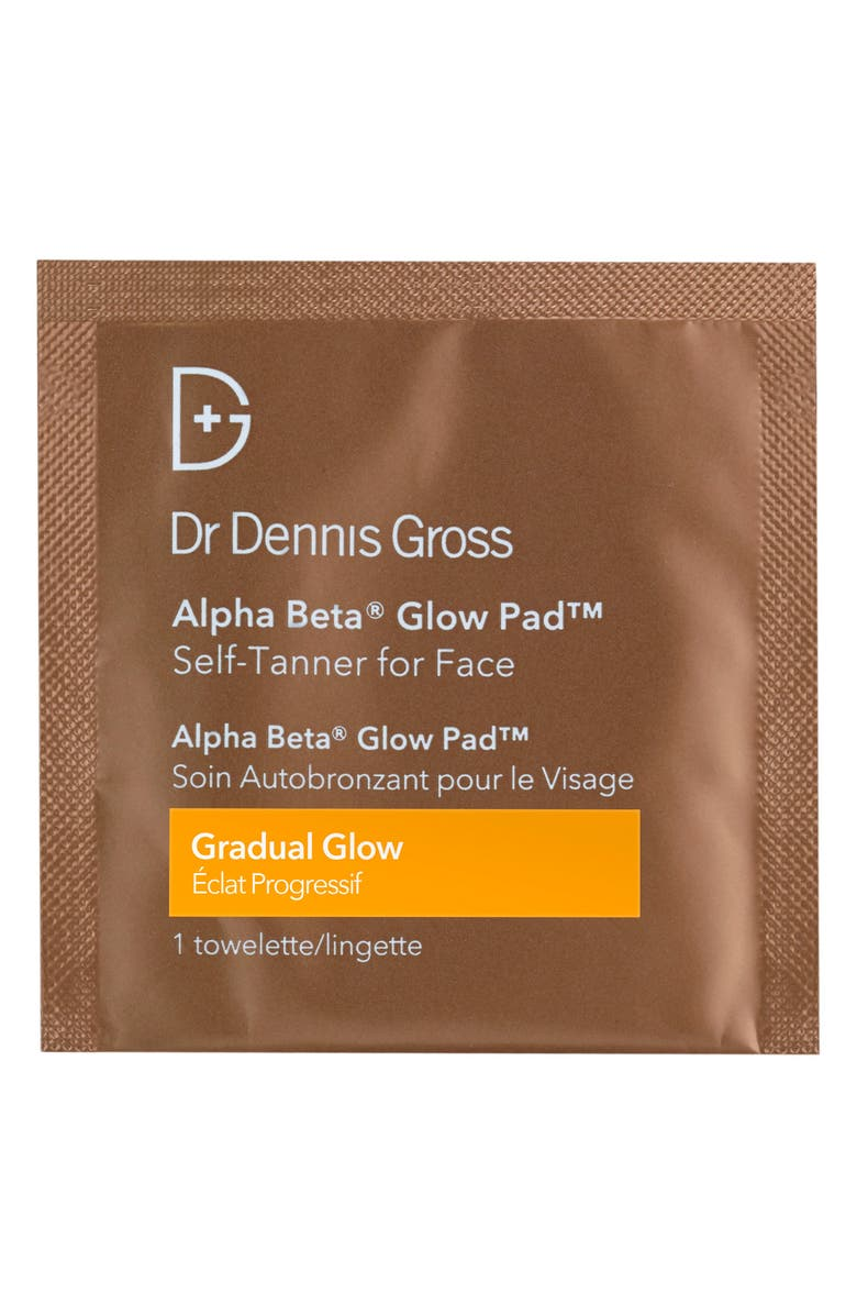DR. DENNIS GROSS Skincare Alpha Beta<sup>®</sup> Gradual Glow Pad Self-Tanner for Face, Main, color, NO COLOR
