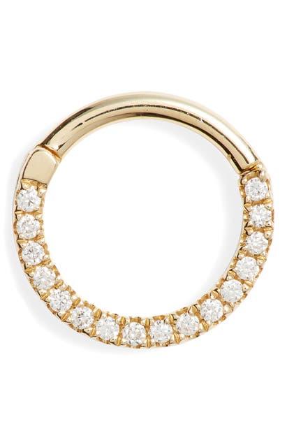 Maria Tash 16-GAUGE DIAMOND FRONT ETERNITY CLICKER EARRING