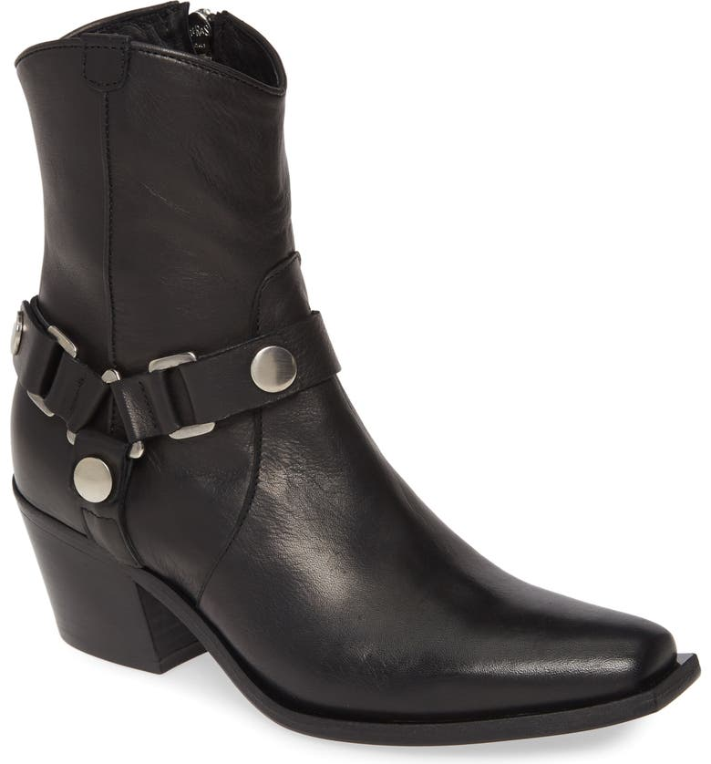 CHARLES DAVID Polo Western Boot, Main, color, BLACK LEATHER