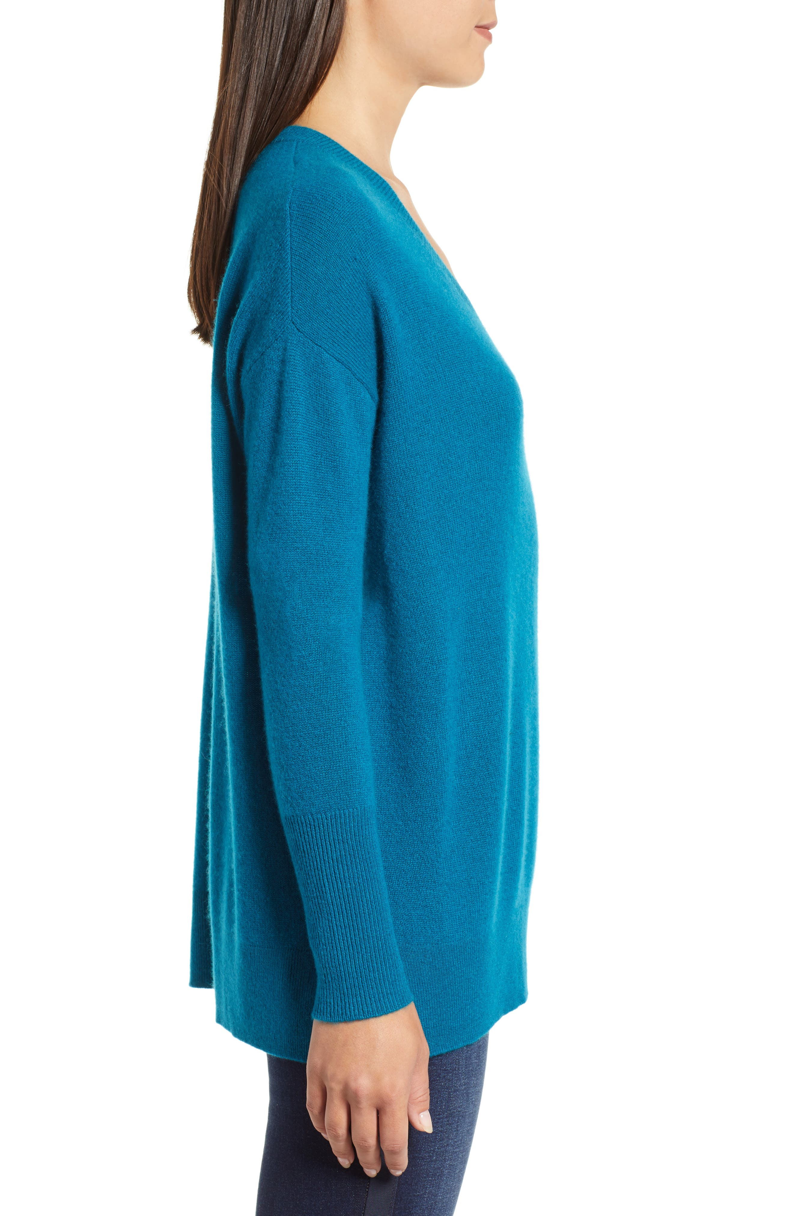 ,                             Relaxed V-Neck Cashmere Sweater,                             Alternate thumbnail 52, color,                             449