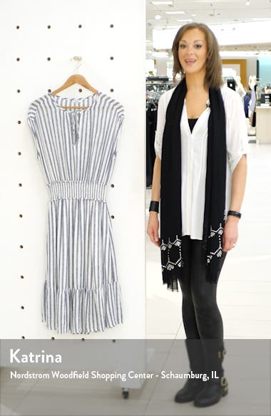 Ashlyn Stripe Linen Blend Dress, sales video thumbnail