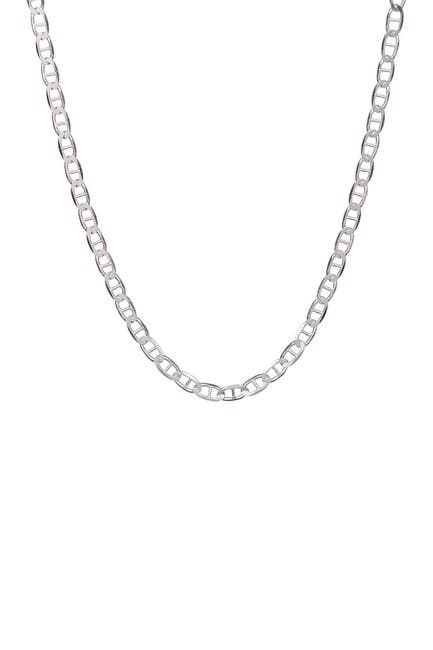 """Image of Best Silver Inc. Sterling Silver 050 Gauge Mariner Chain 20"""""""