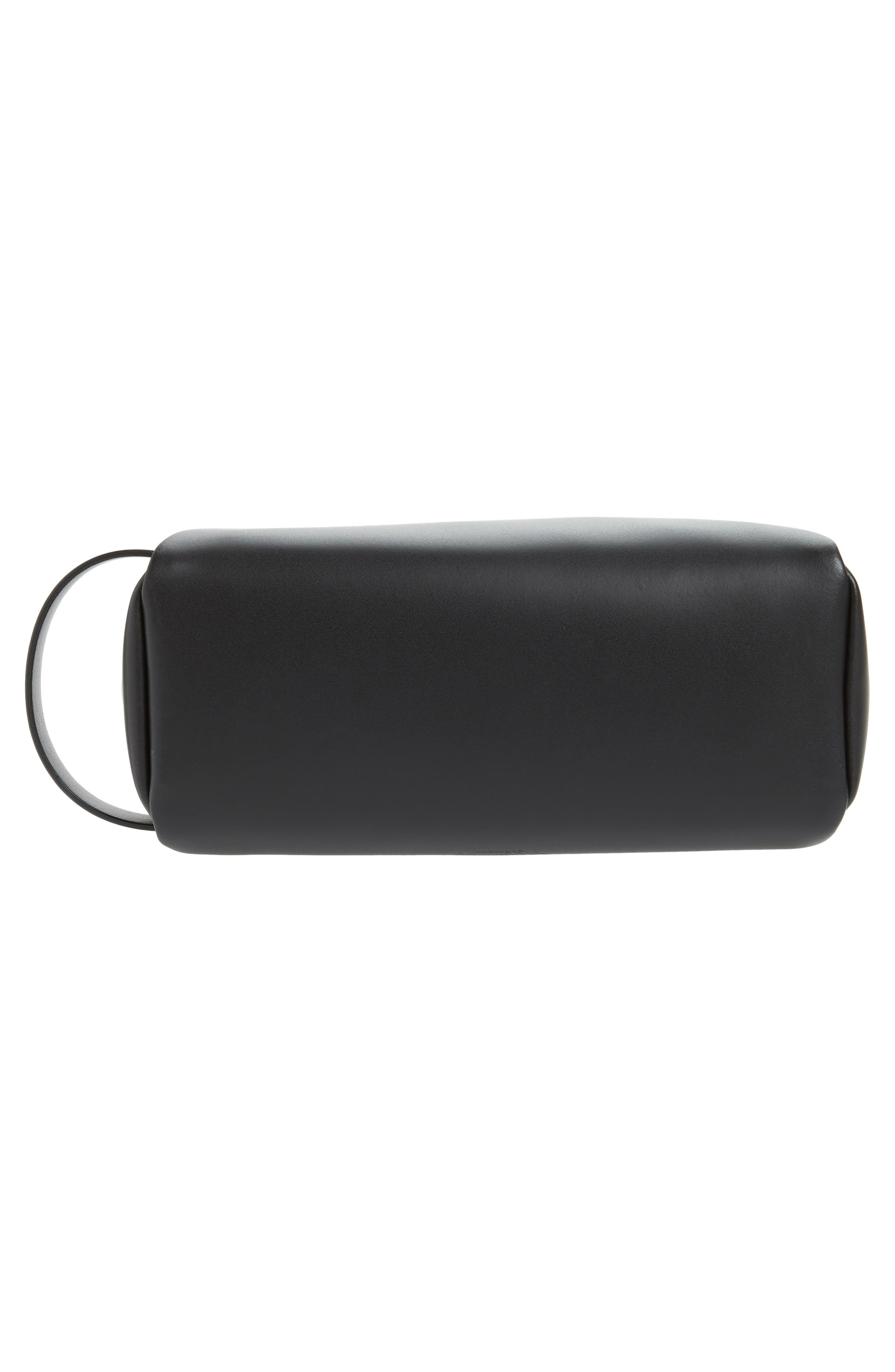 ,                             GARAVANI Logo Leather Dopp Kit,                             Alternate thumbnail 5, color,                             002