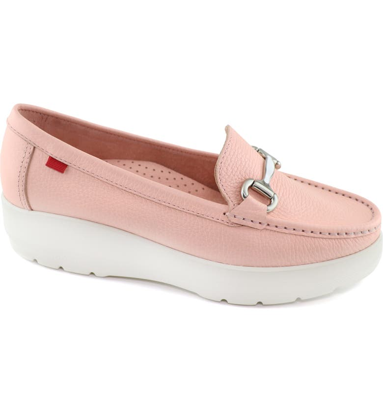 MARC JOSEPH NEW YORK Sunset Ave Platform Loafer, Main, color, BABY PINK TUMBLED LEATHER