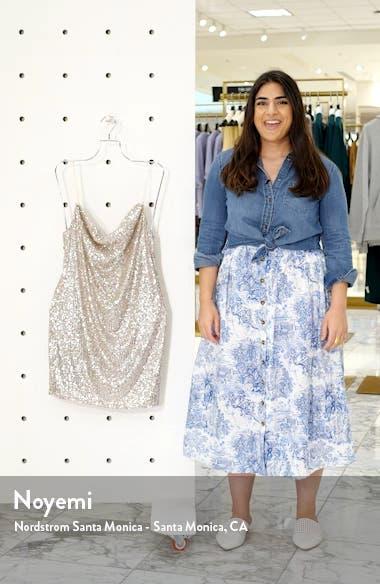 Sequin Cowl Neck Minidress, sales video thumbnail