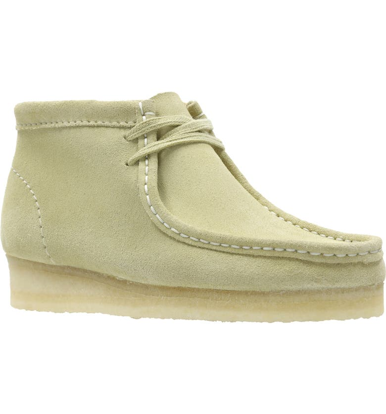 CLARKS<SUP>®</SUP> ORIGINALS Wallabee Moc Toe Boot, Main, color, MAPLE/ MAPLE SUEDE