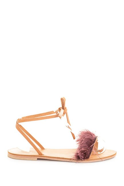 Image of CHARLOTTE STONE Yvonee Ostrich Feather Sandal