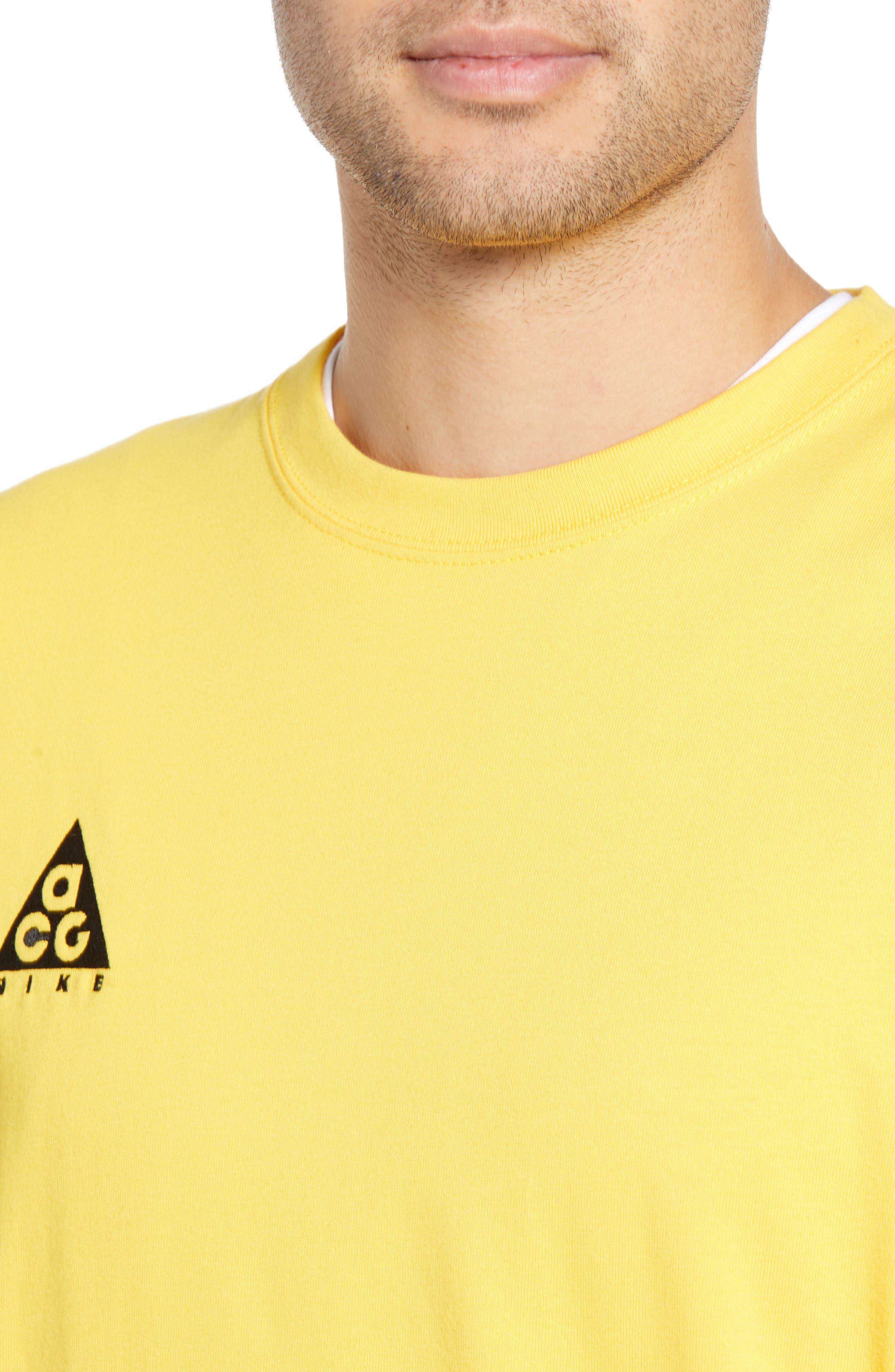 ,                             NRG All Conditions Gear Men's Logo T-Shirt,                             Alternate thumbnail 4, color,                             AMARILLO