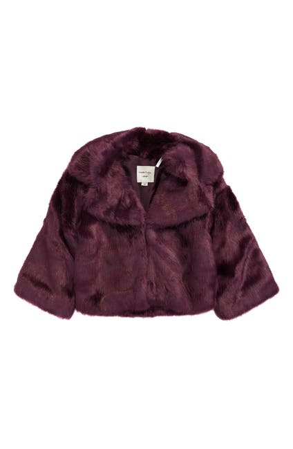 Image of Habitual Kids Zoey Faux Fur Bell Sleeve Jacket