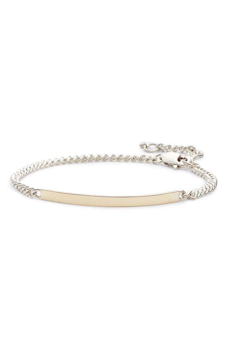 LOREN STEWART Eastsider ID Bracelet, Main, color, GOLD