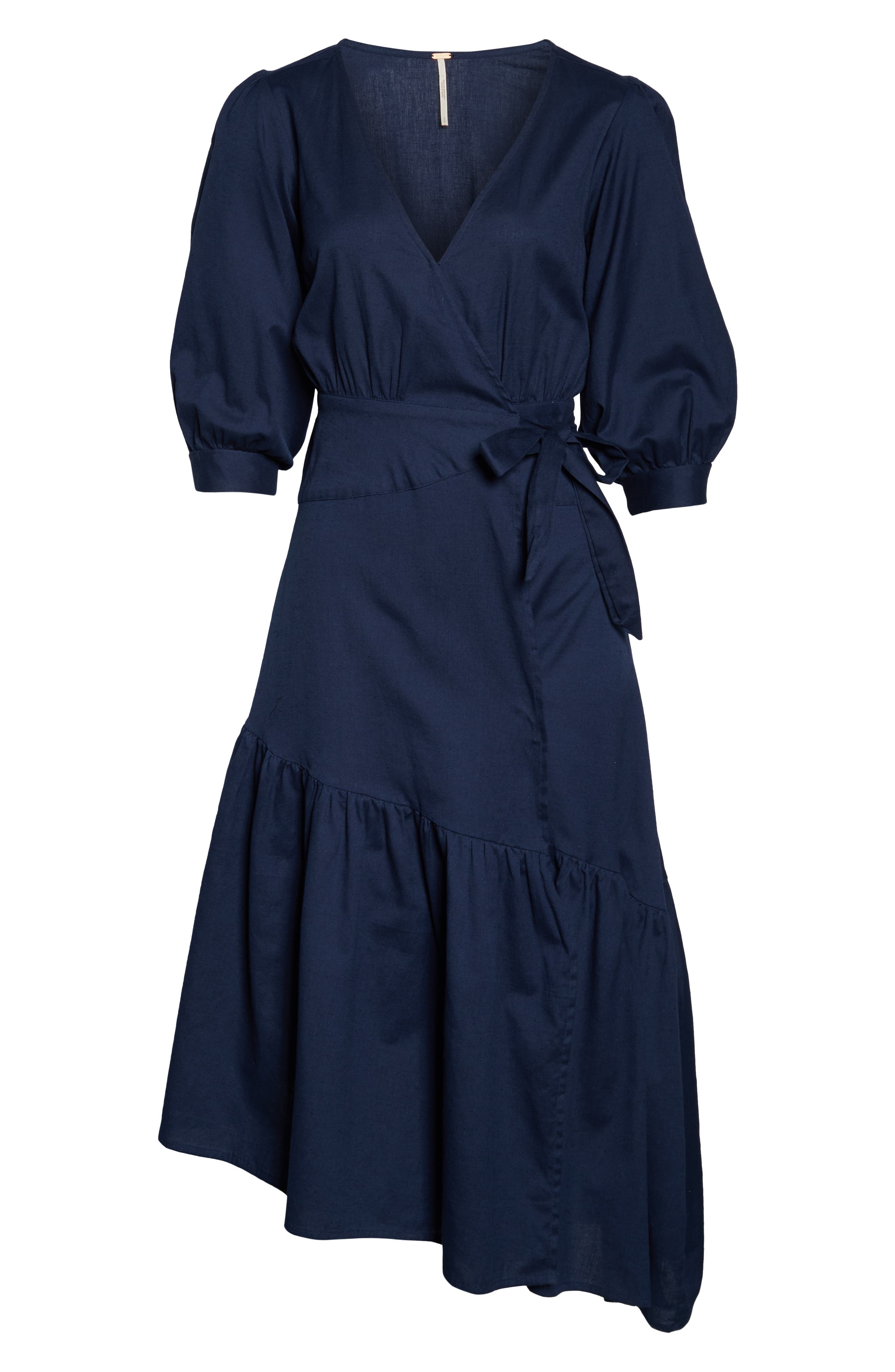,                             Endless Summer by Free People Don't Mind If I Do Midi Dress,                             Alternate thumbnail 5, color,                             DARK BLUE