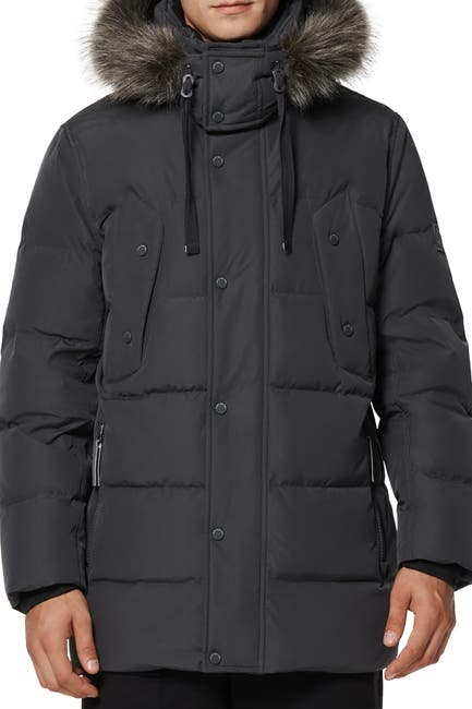 Image of Andrew Marc Gattaca Faux Fur Trim Parka