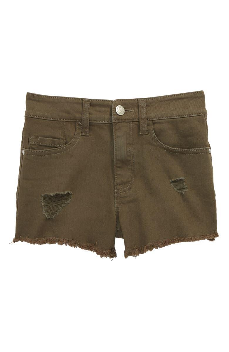 TREASURE & BOND Distressed Cutoff Denim Shorts, Main, color, 311
