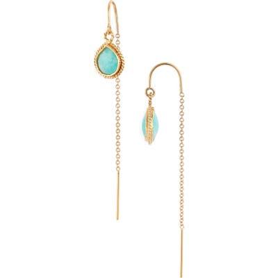 Mend Semiprecious Stone Threader Earrings