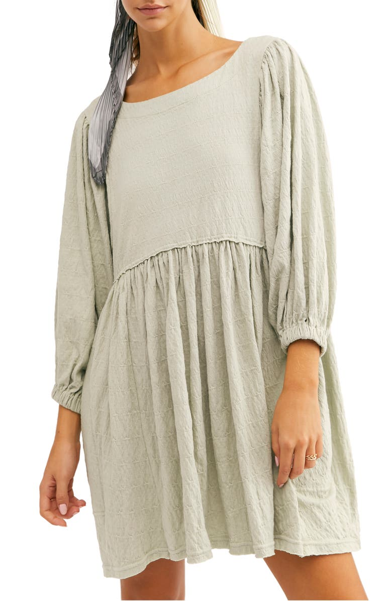 FREE PEOPLE Endless Summer by Free People Get Obsessed Babydoll Tunic Dress, Main, color, SWAYING PALM
