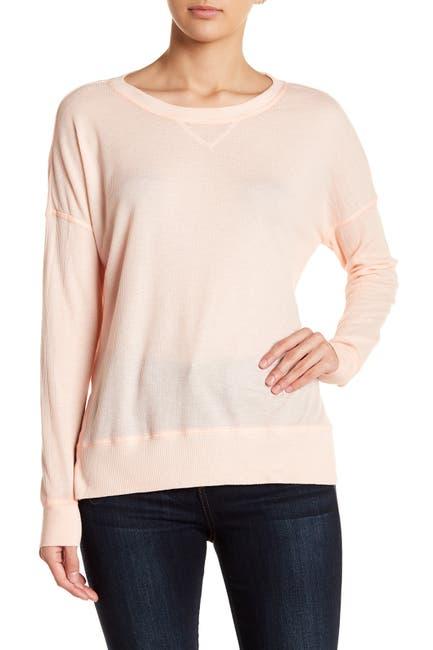 Image of Sweet Romeo Baby Thermal Seamed Pullover Sweatshirt