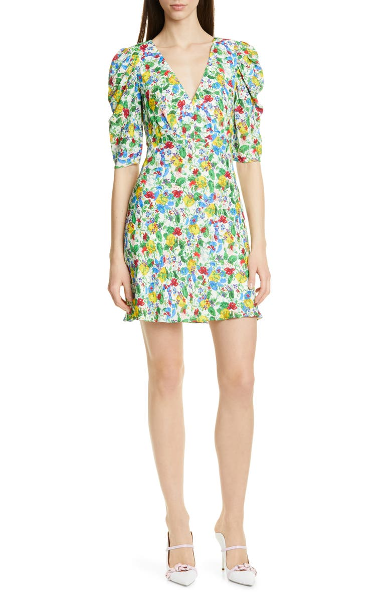 SALONI Colette Silk Minidress