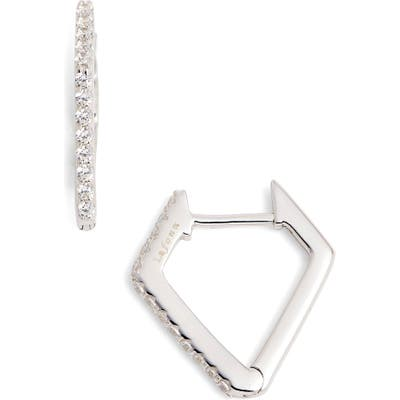 Lafonn Diamond-Shaped Hoop Earrings