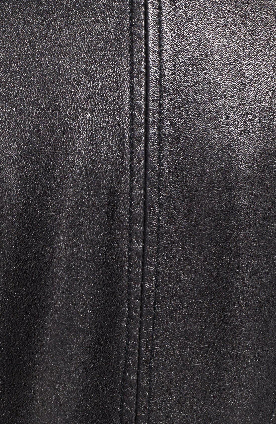 ,                             Zip Detail Moto Jacket,                             Alternate thumbnail 3, color,                             001