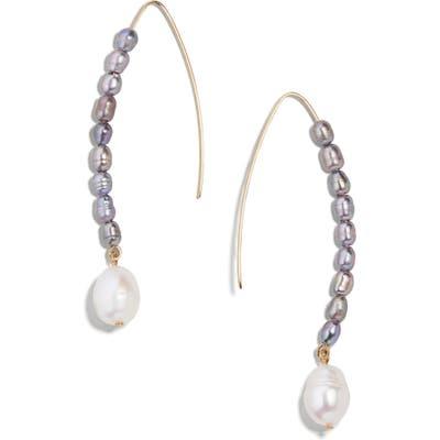 Baublebar Caspian Freshwater Pearl & Imitation Pearl Drop Earrings