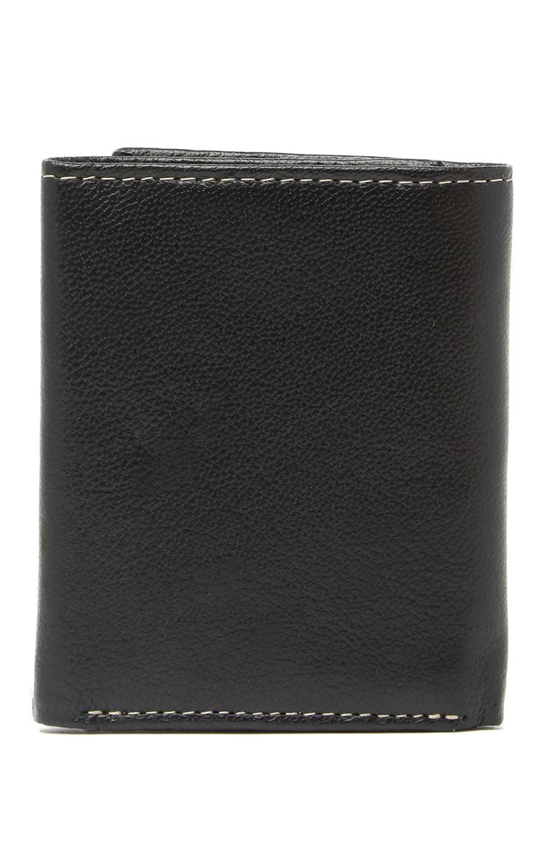 Timberland Contrast Stitch Leather Trifold Wallet