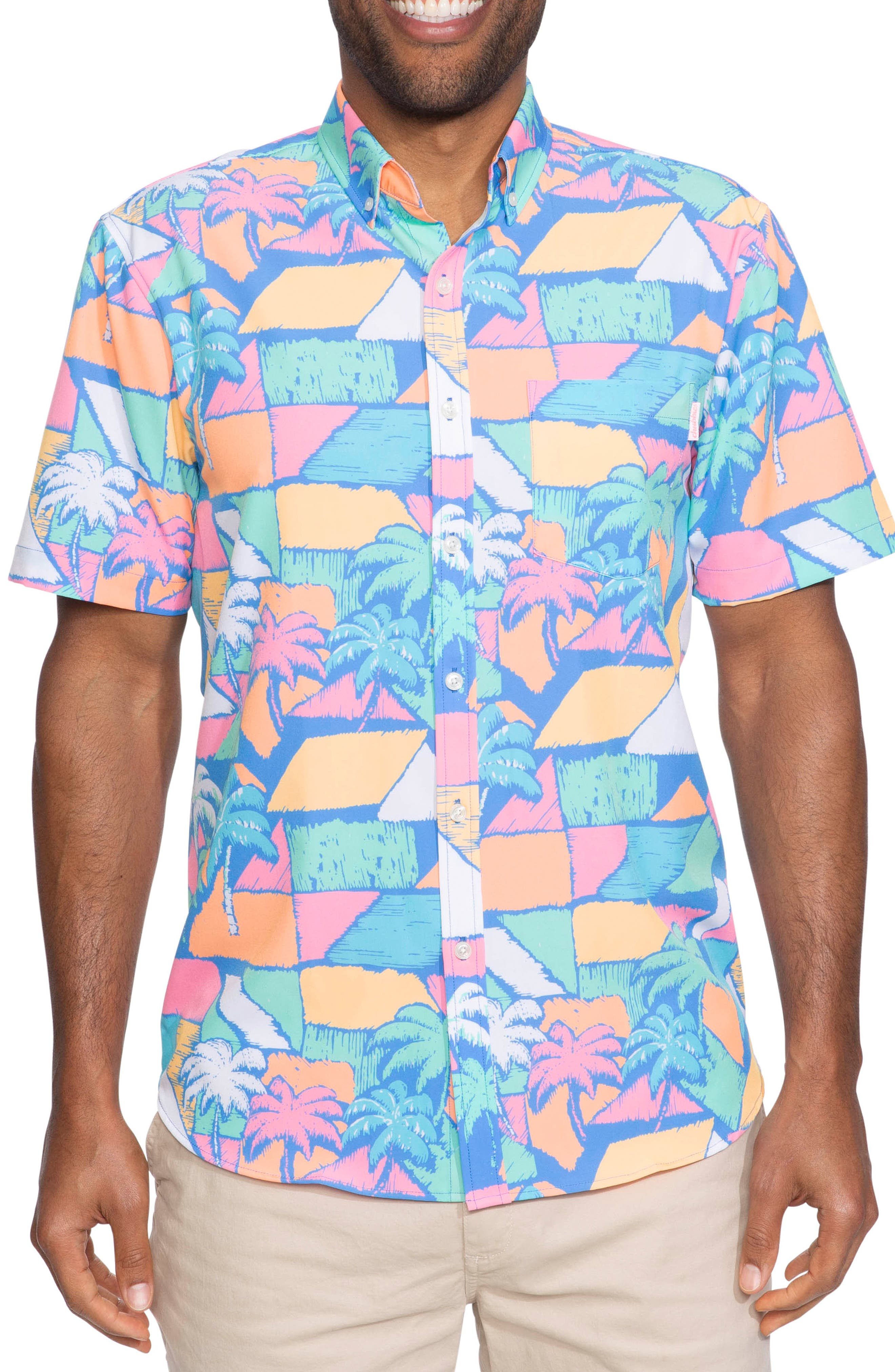 ,                             Vintage Palm Block Print Shirt,                             Main thumbnail 1, color,                             VINTAGE PALM BLOCKS