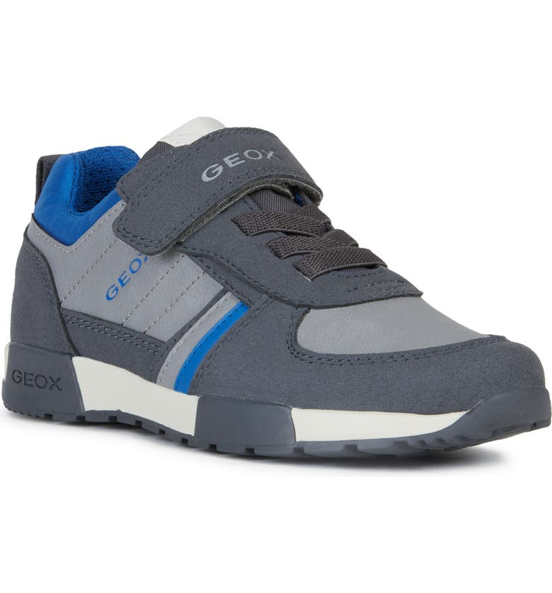 GEOX Alfier Sneaker, Main, color, DARK GREY/ ROYAL