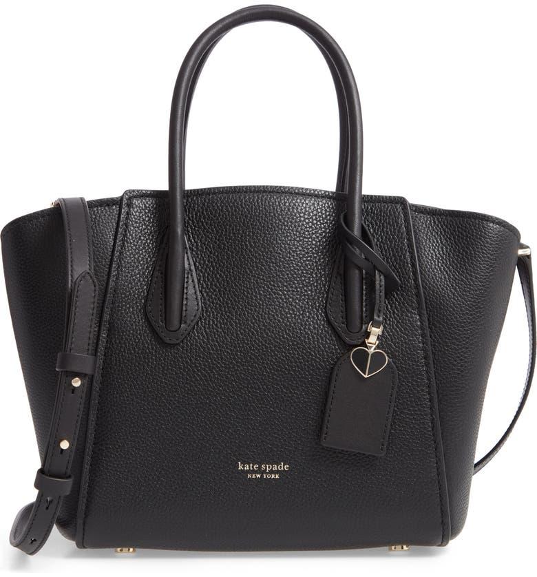 KATE SPADE NEW YORK medium grace leather satchel, Main, color, 001