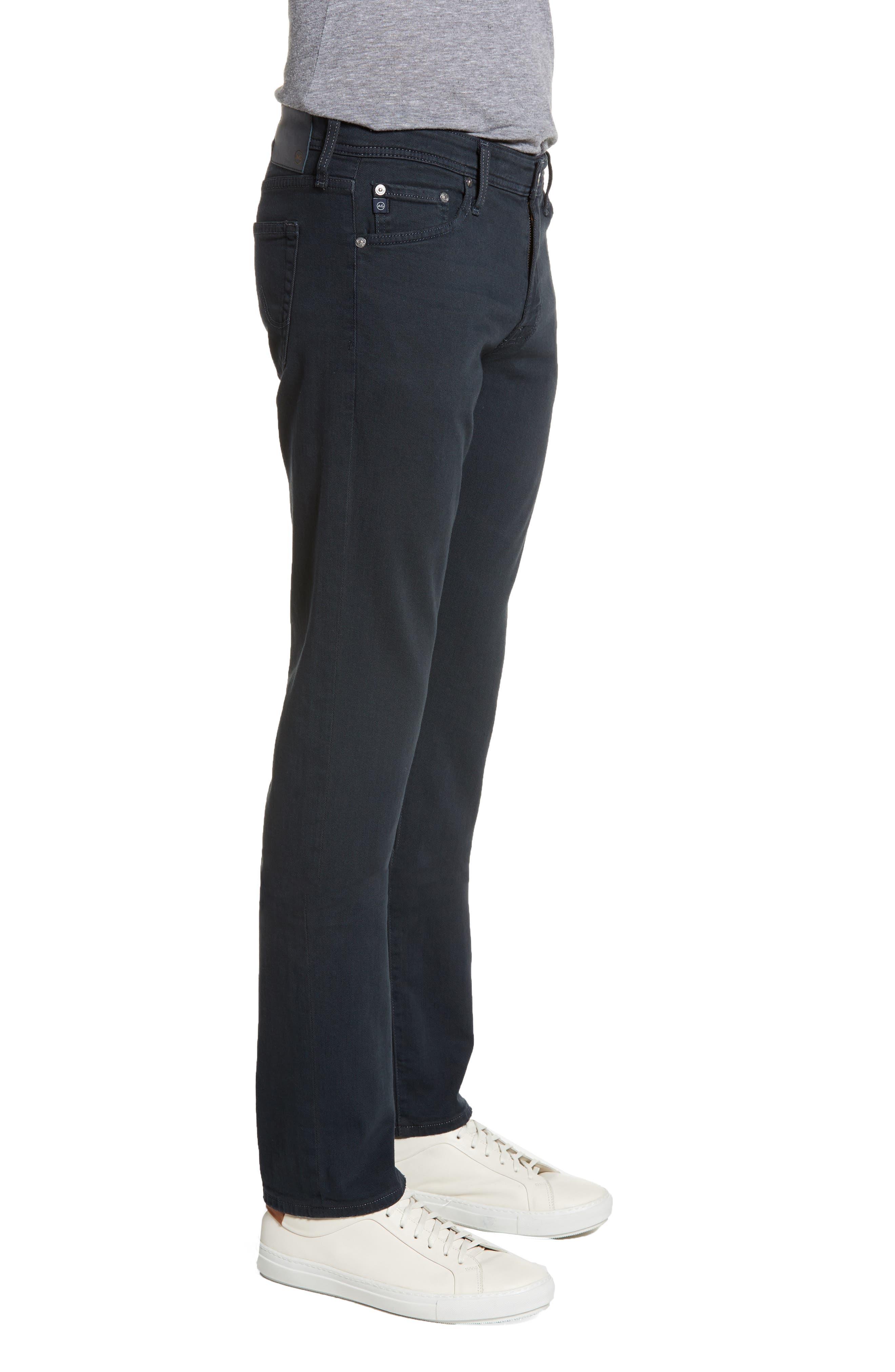 ,                             Graduate Slim Straight Leg Jeans,                             Alternate thumbnail 4, color,                             DARK MOTH