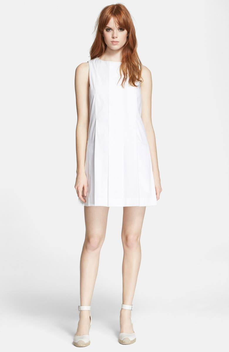 MARC BY MARC JACOBS Pleated Shift Dress, Main, color, 100
