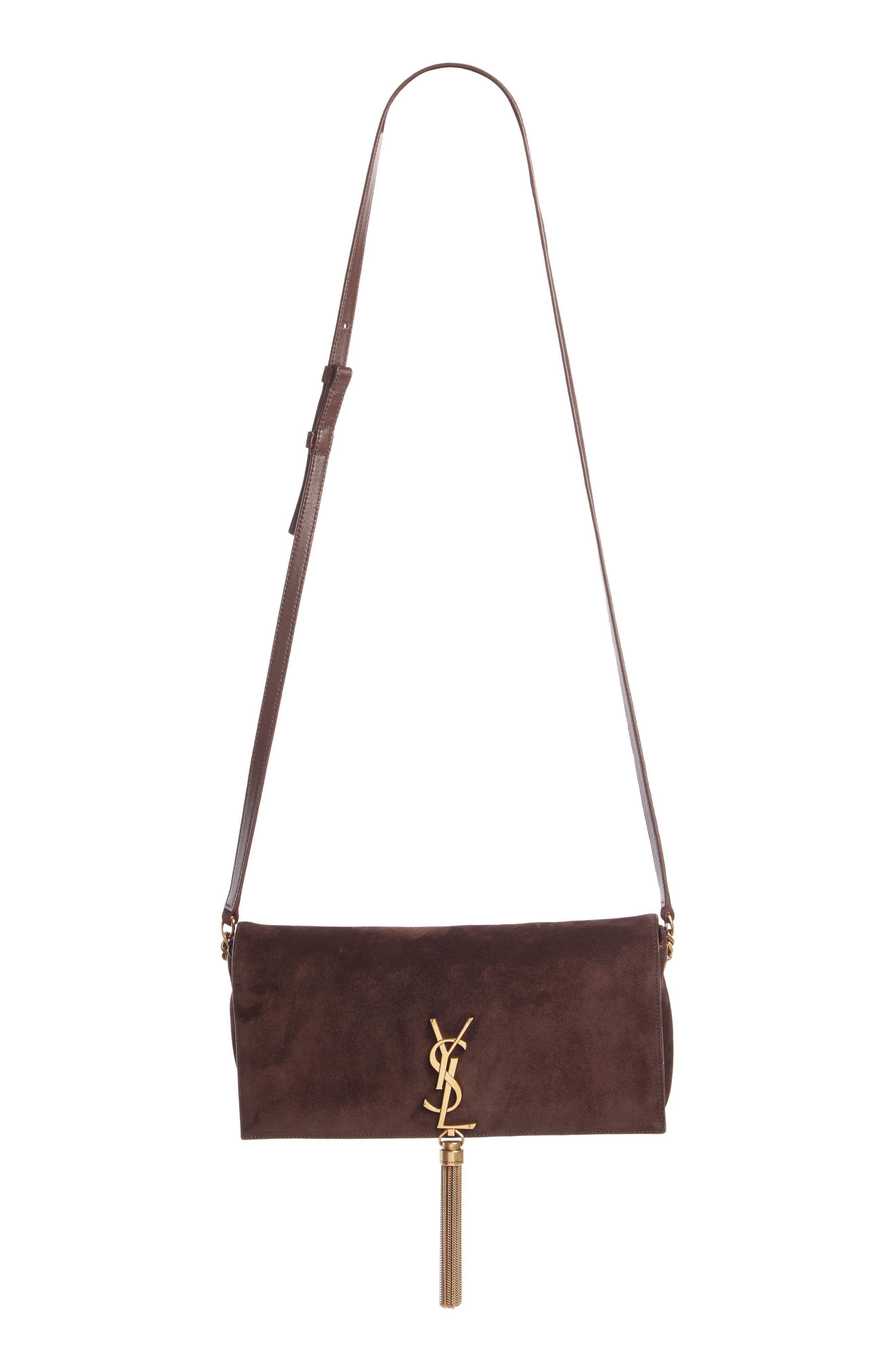 Saint Laurent Kate Reversible Leather Shoulder Bag | Nordstrom