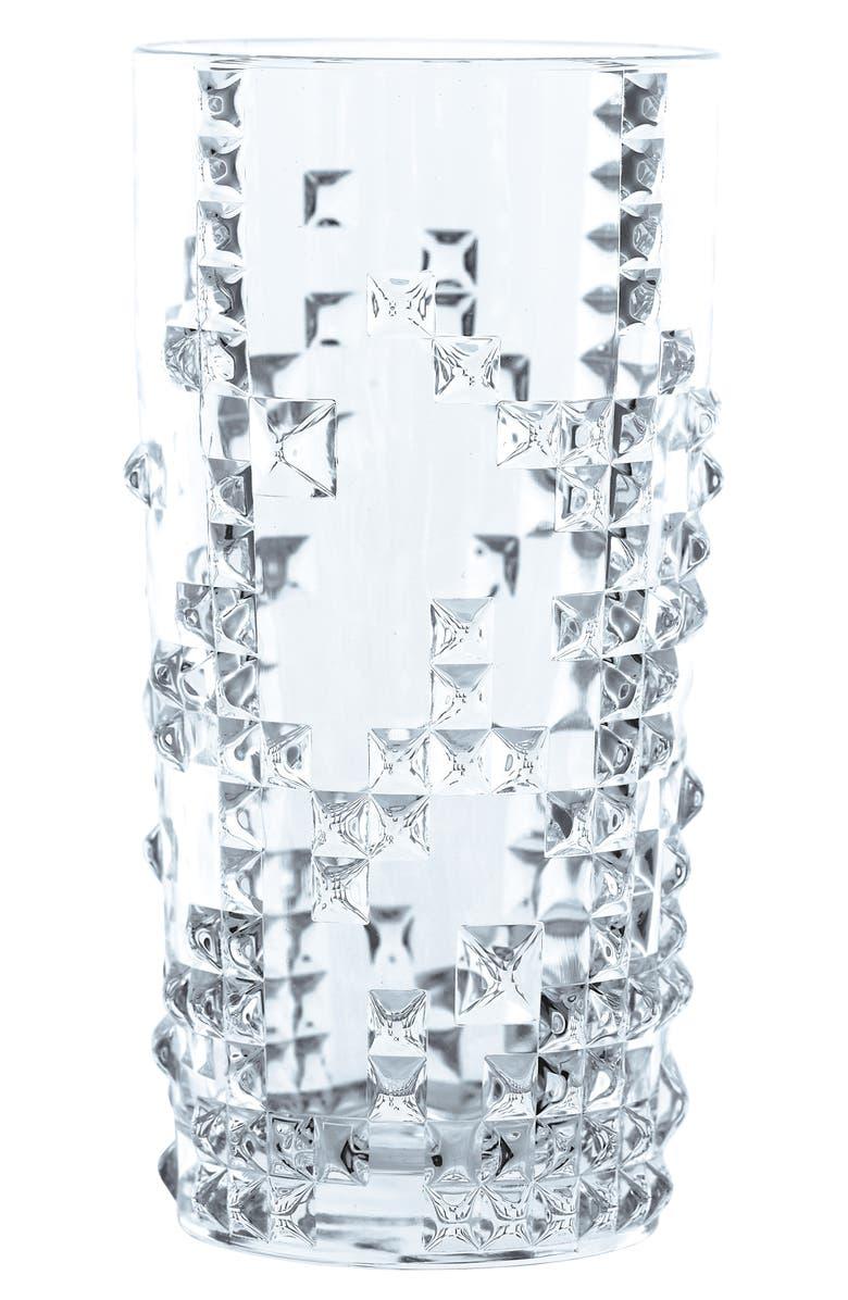 NACHTMANN Set of 4 Punk Longdrink Crystal Glasses, Main, color, CLEAR