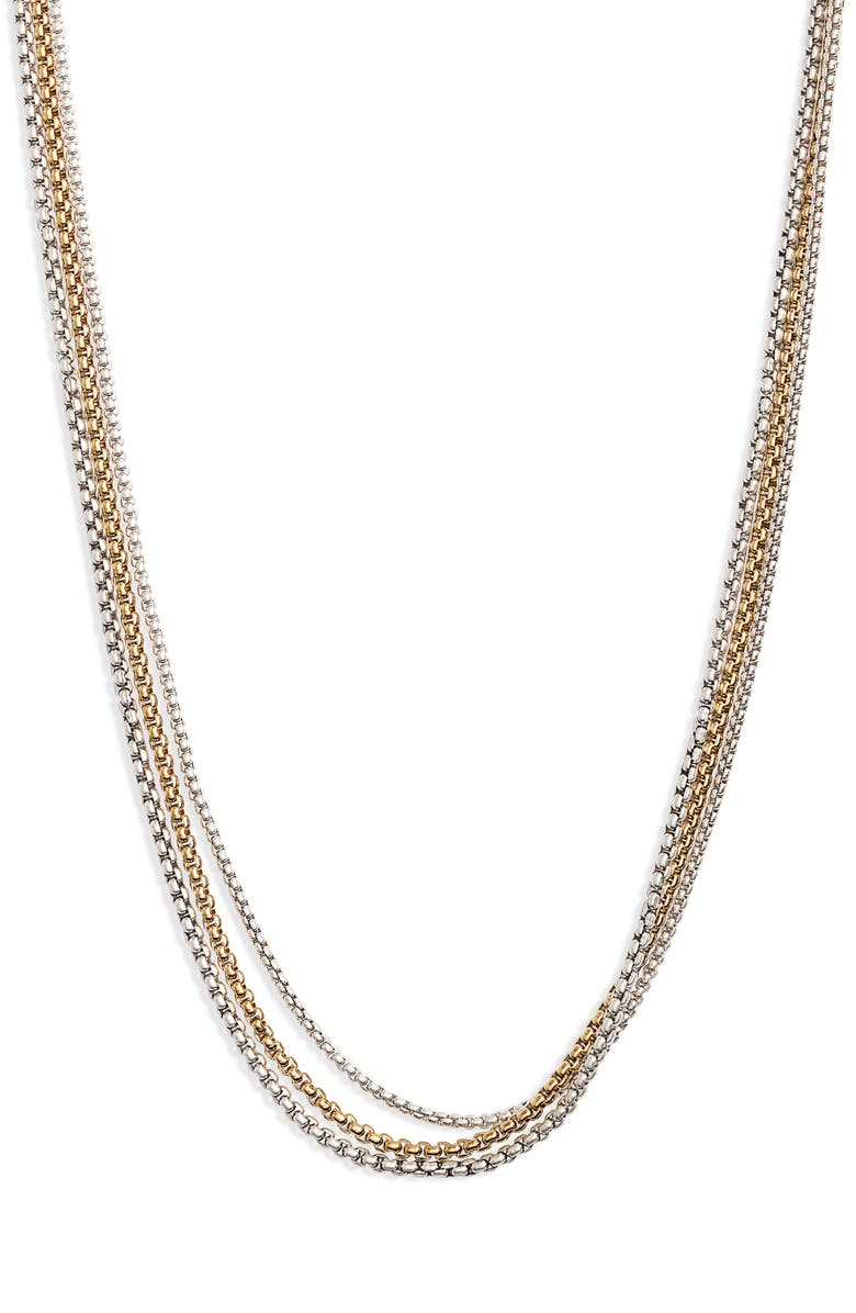 JENNY BIRD Billie Layered Chain Necklace, Main, color, TWO TONE