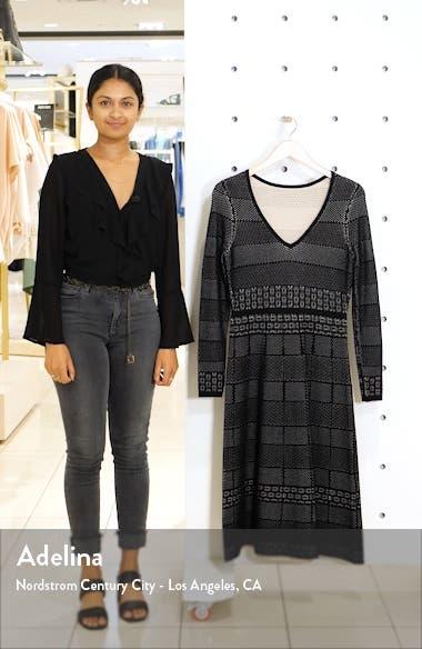 Heidi Mixed Stitch Long Sleeve Sweater Dress, sales video thumbnail
