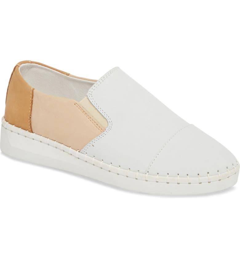 BERNIE MEV. TW107 Slip-On Flat, Main, color, NUDE MIX LEATHER