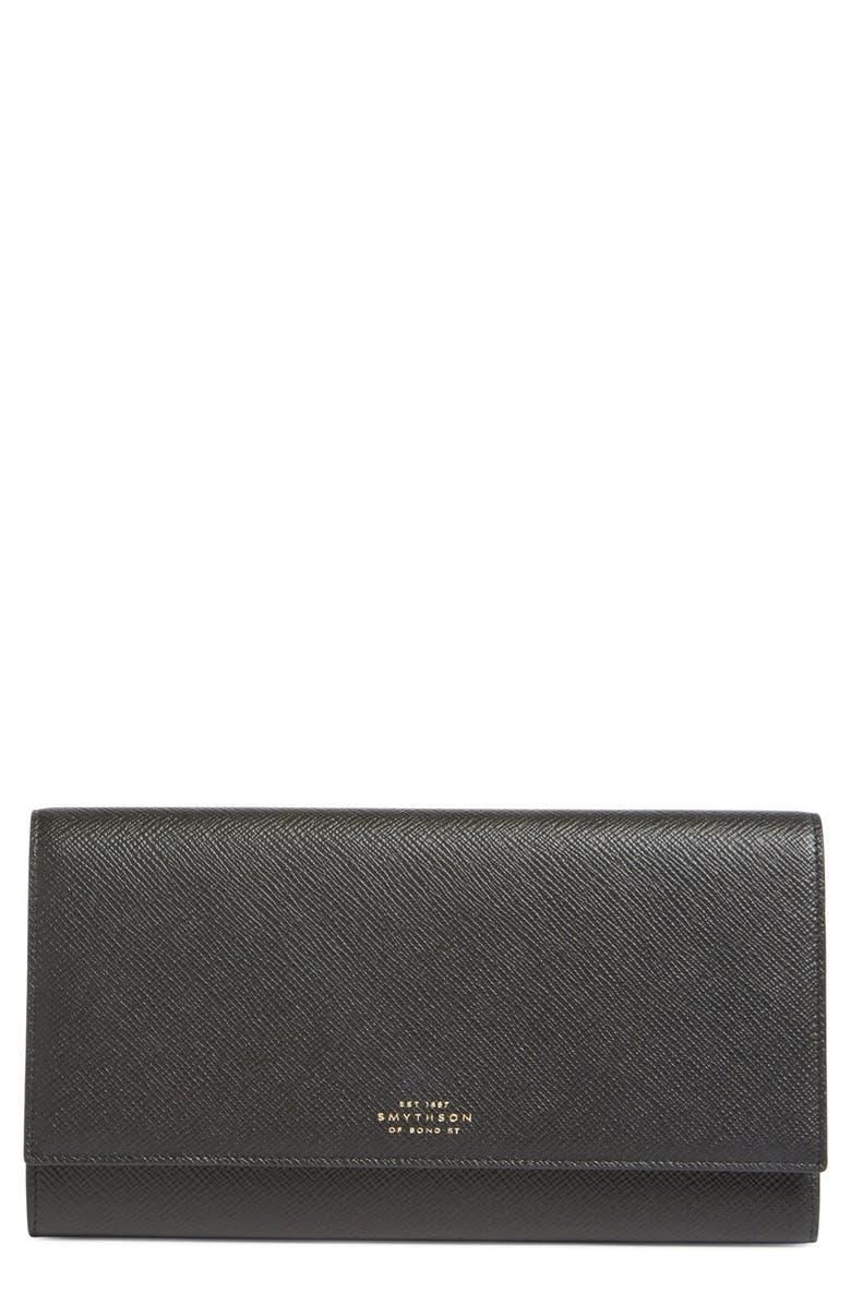SMYTHSON 'Panama Marshall' Travel Wallet, Main, color, 001