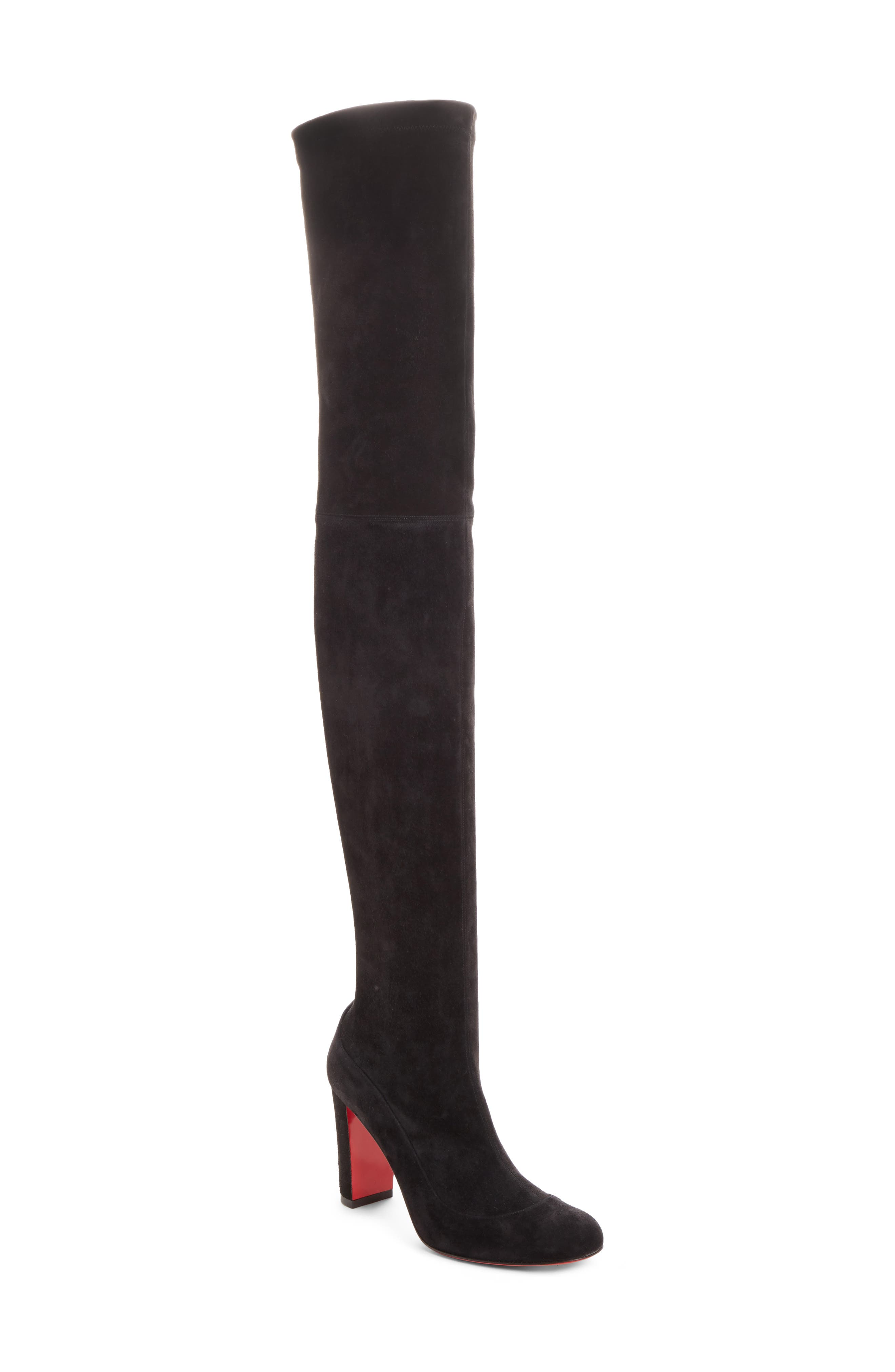 Kiss Me Gena Over the Knee Boot, Main, color, BLACK