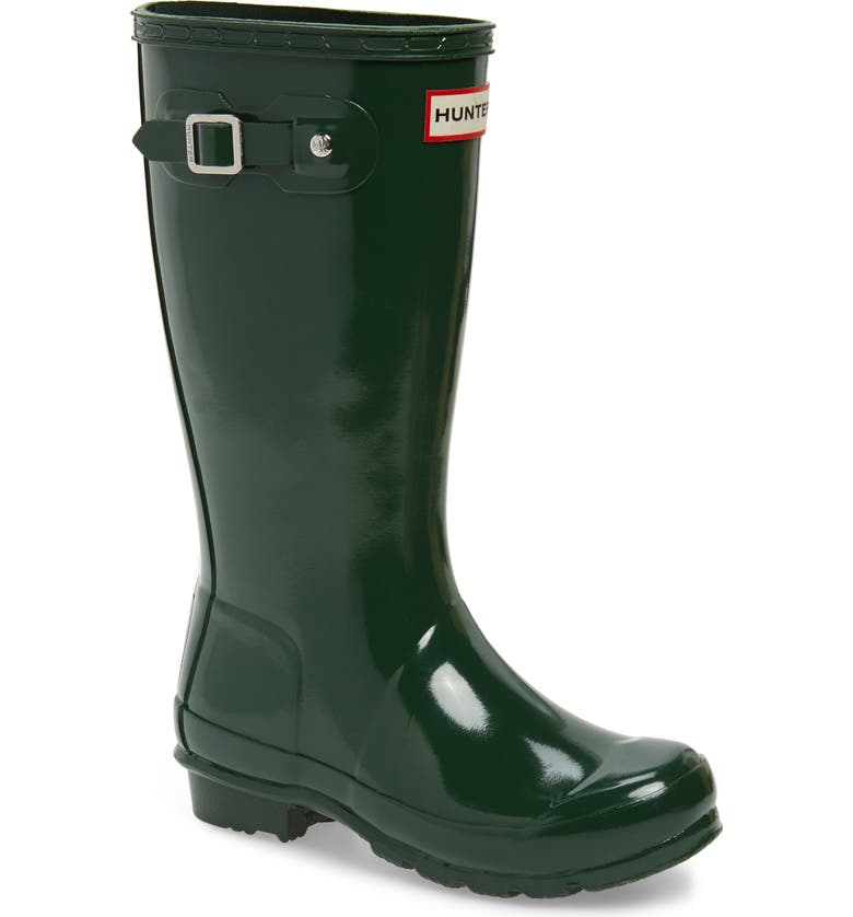 HUNTER Original Gloss Rain Boot, Main, color, HUNTER GREEN