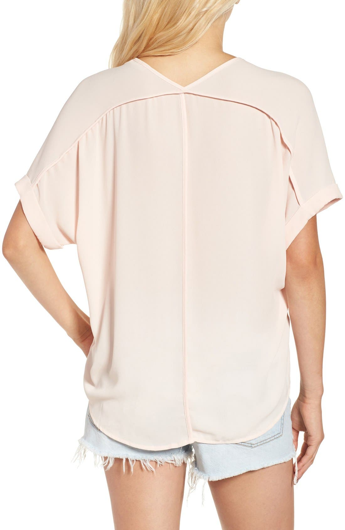 ,                             Lush Cuff Sleeve Woven Tee,                             Alternate thumbnail 162, color,                             652
