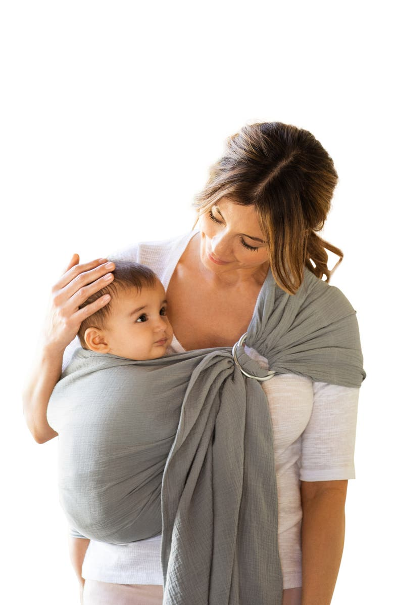 MOBY Ring Sling Double Gauze Baby Carrier, Main, color, PEWTER