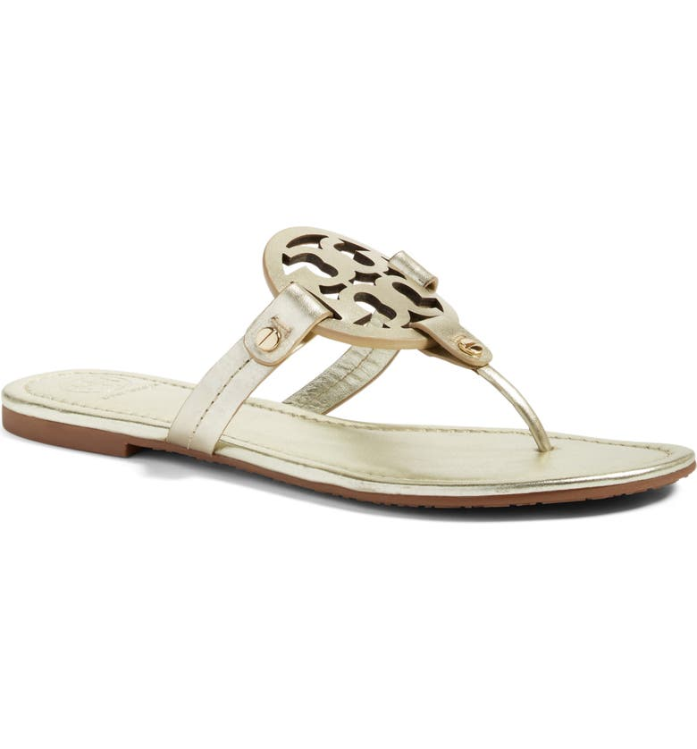 TORY BURCH Miller Flip Flop, Main, color, SPARK GOLD