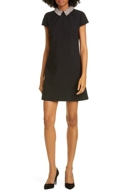 Alice And Olivia Dresses COLEY CRYSTAL COLLAR A-LINE DRESS