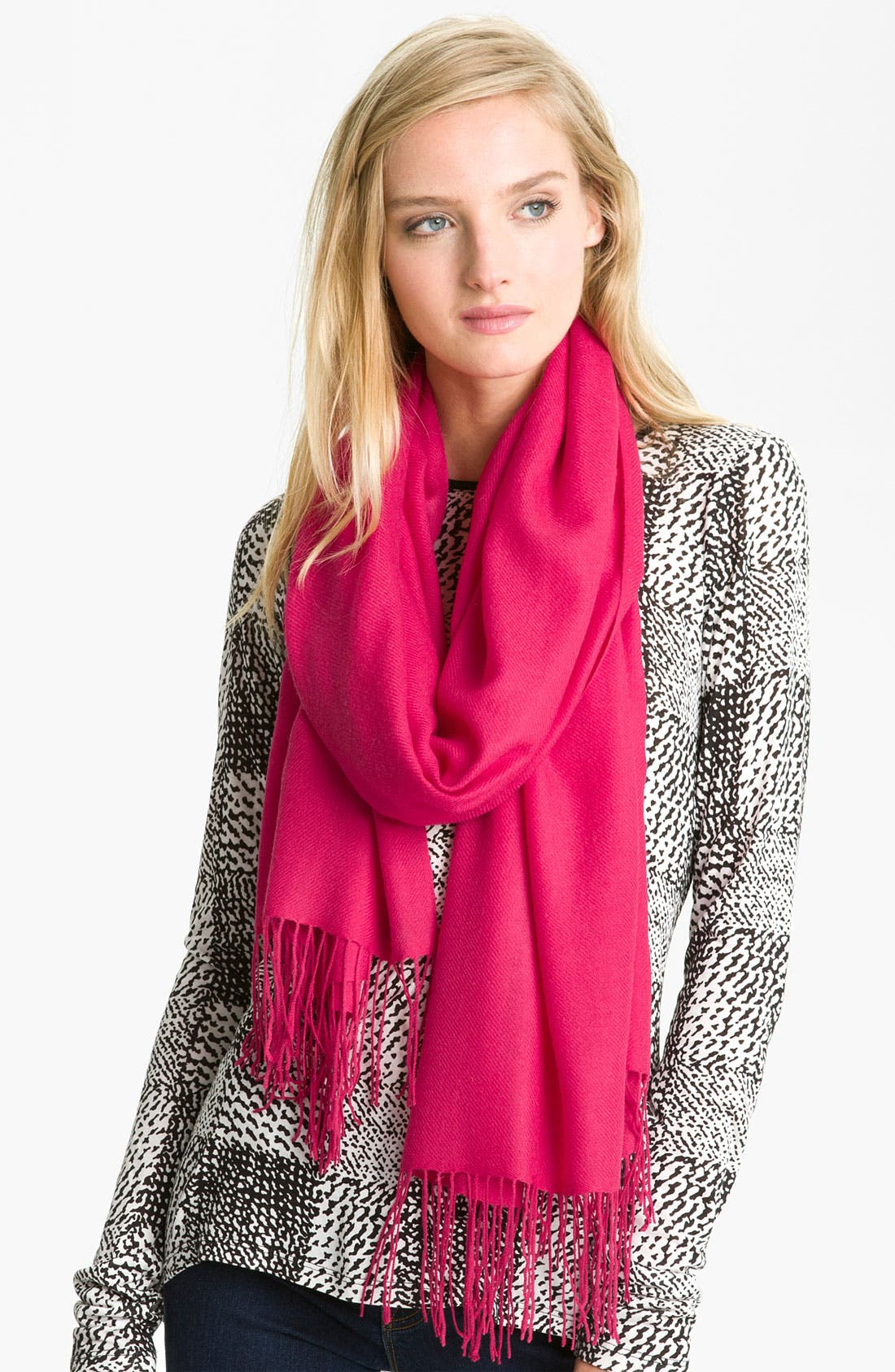 ,                             Tissue Weight Wool & Cashmere Wrap,                             Main thumbnail 215, color,                             930