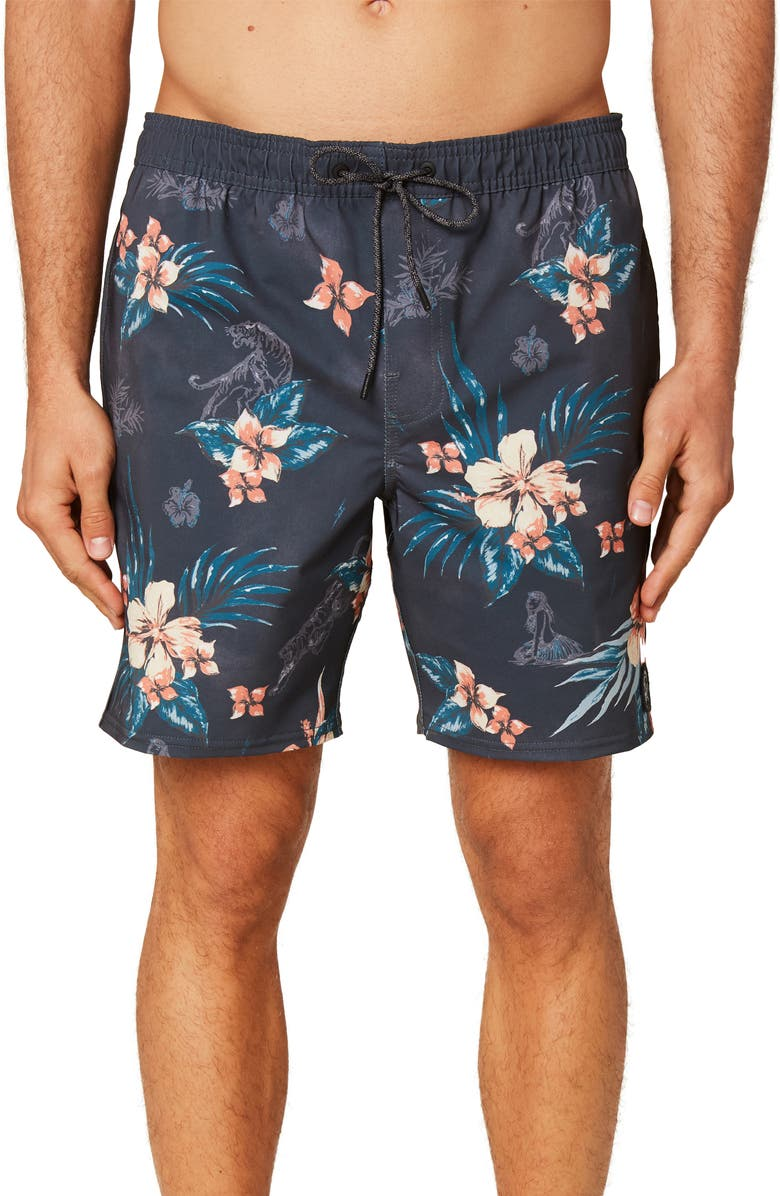O'NEILL Bloom Volley Shorts, Main, color, GRAPHITE