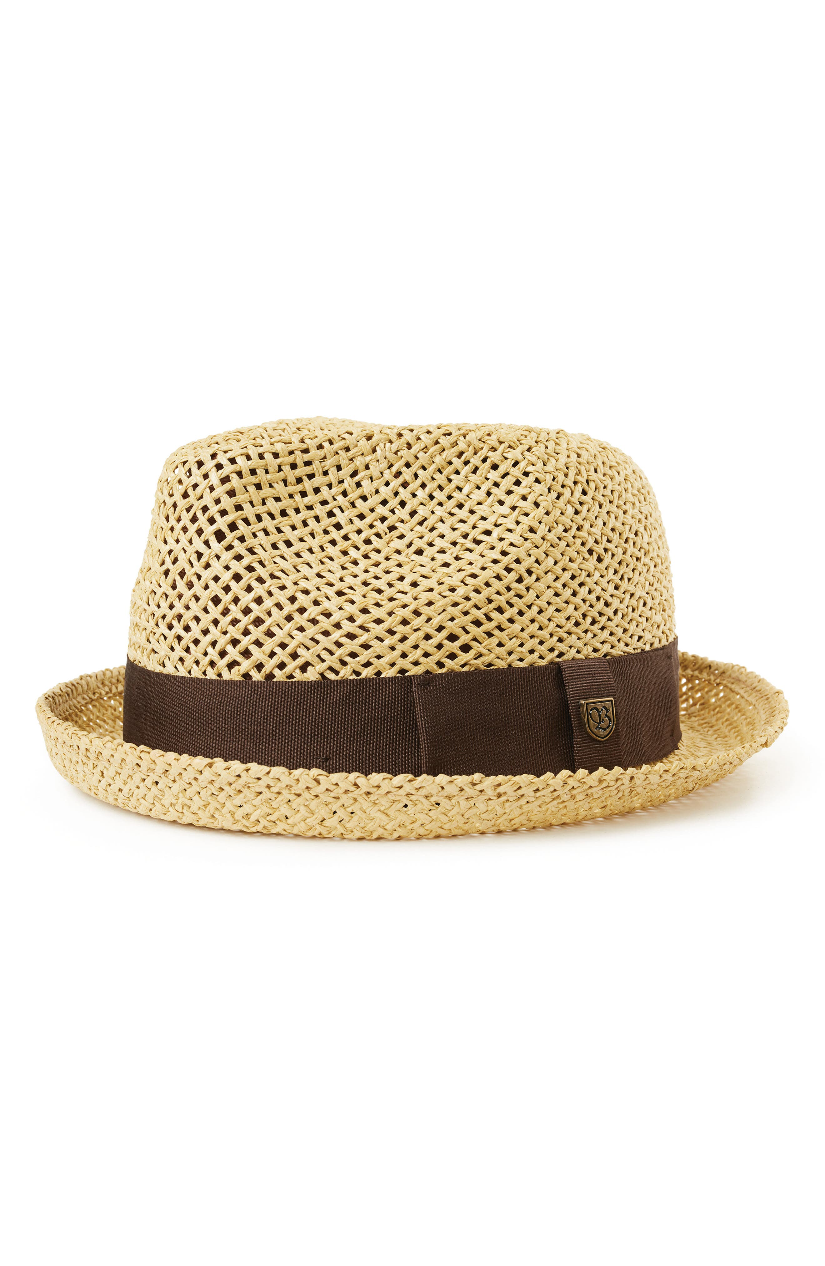 Brixton Castor Straw Fedora - Brown