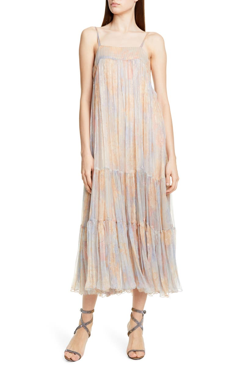 MES DEMOISELLES Pavot Metallic Stripe Sundress, Main, color, 650