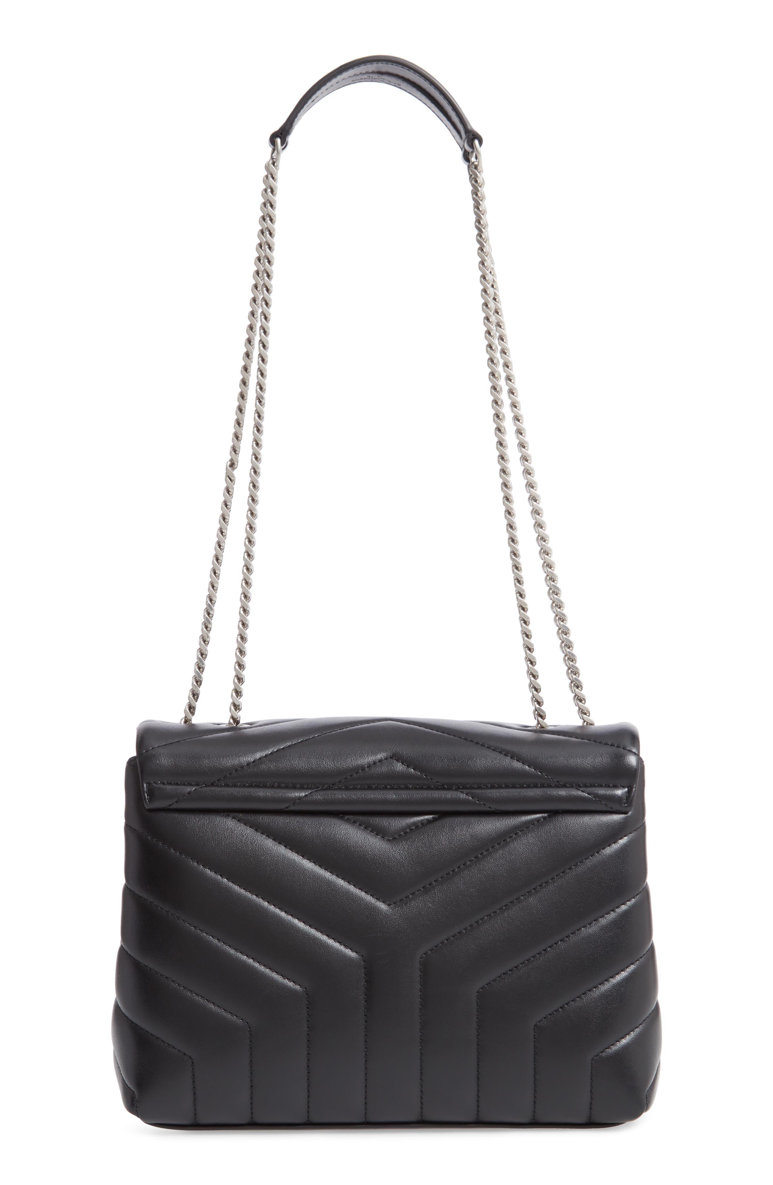 ,                             Small Loulou Leather Shoulder Bag,                             Alternate thumbnail 2, color,                             001