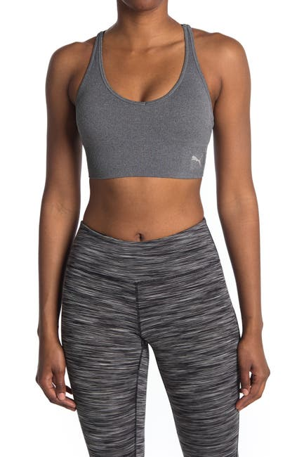 Image of PUMA Seamless Strappy Sports Bra Top