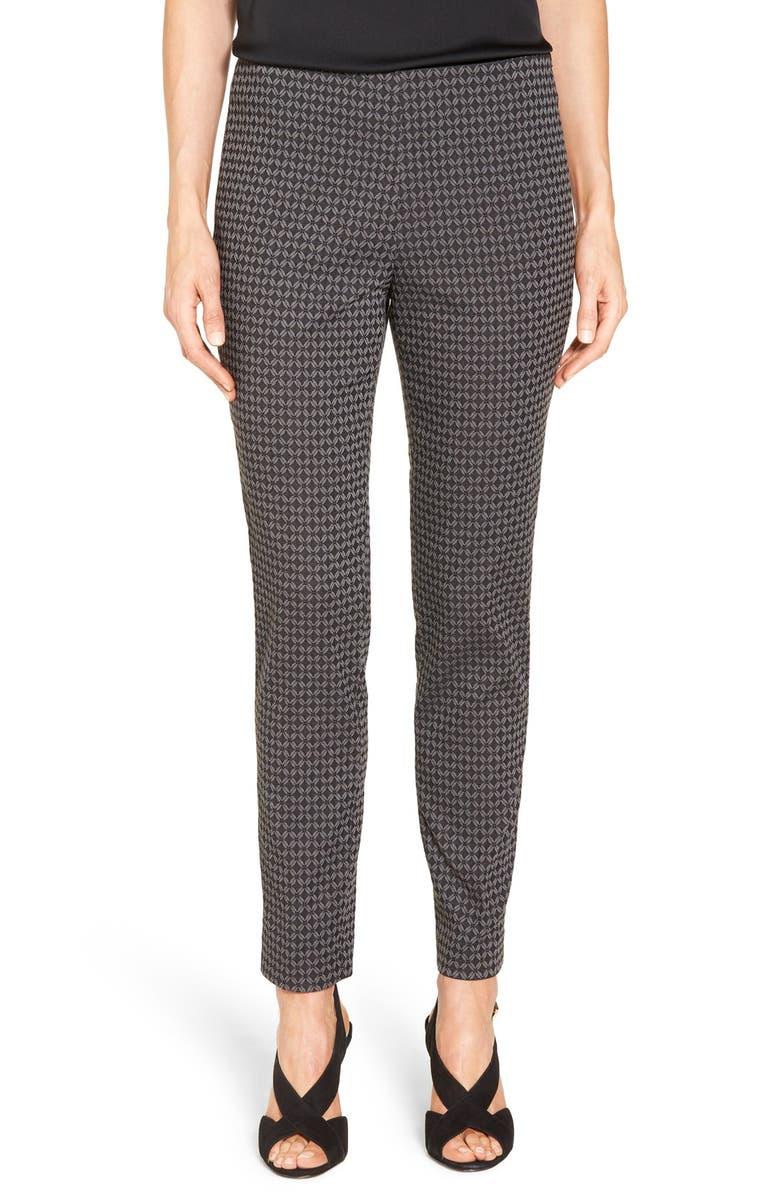 VINCE CAMUTO Print Side Zip Skinny Pants, Main, color, 006
