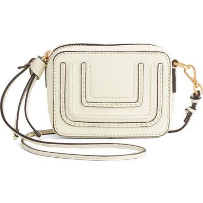 Chloe Mini Marcie Leather Crossbody Bag - Ivory